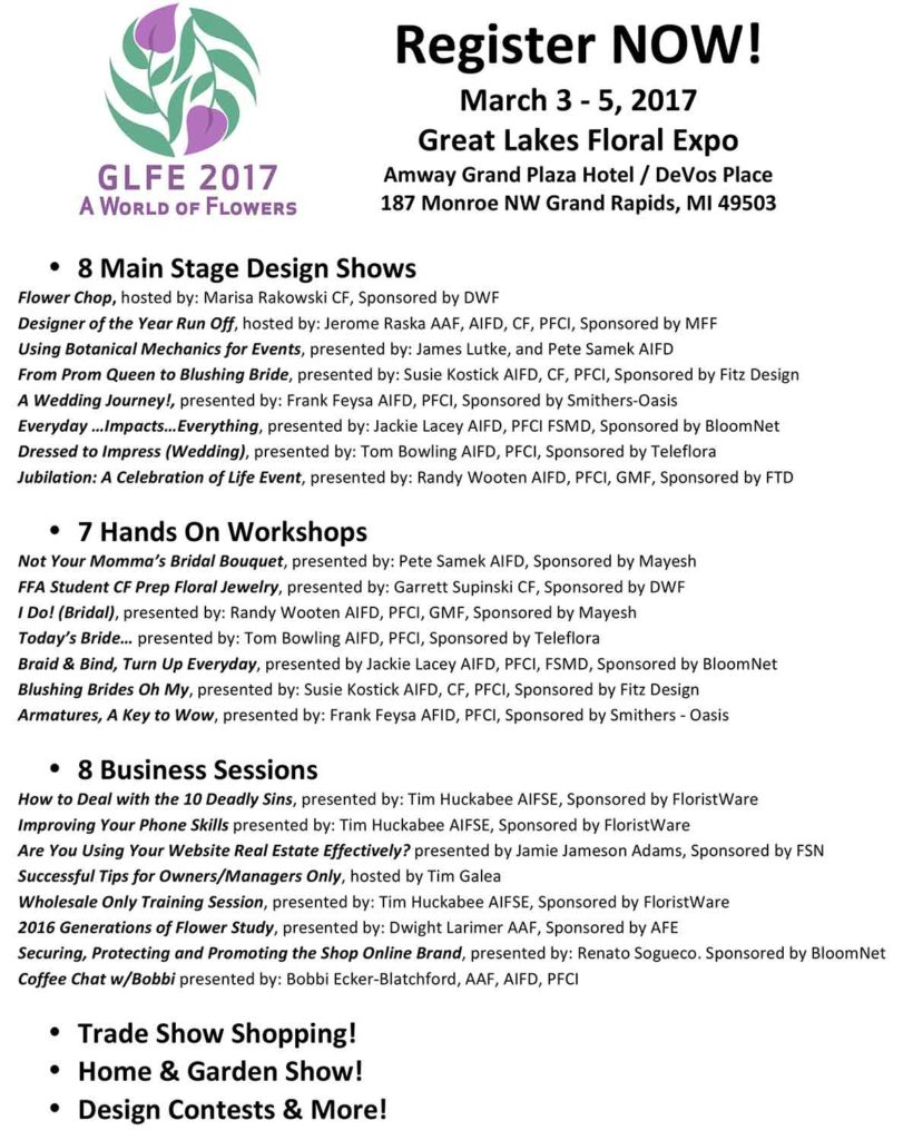 2017 Great Lakes Floral Expo