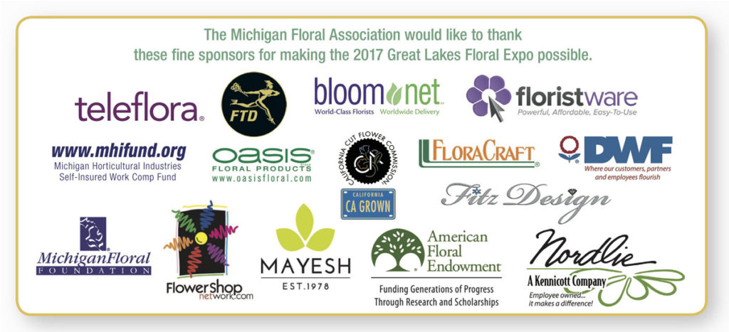2017 Great Lakes Floral Expo Sponsors