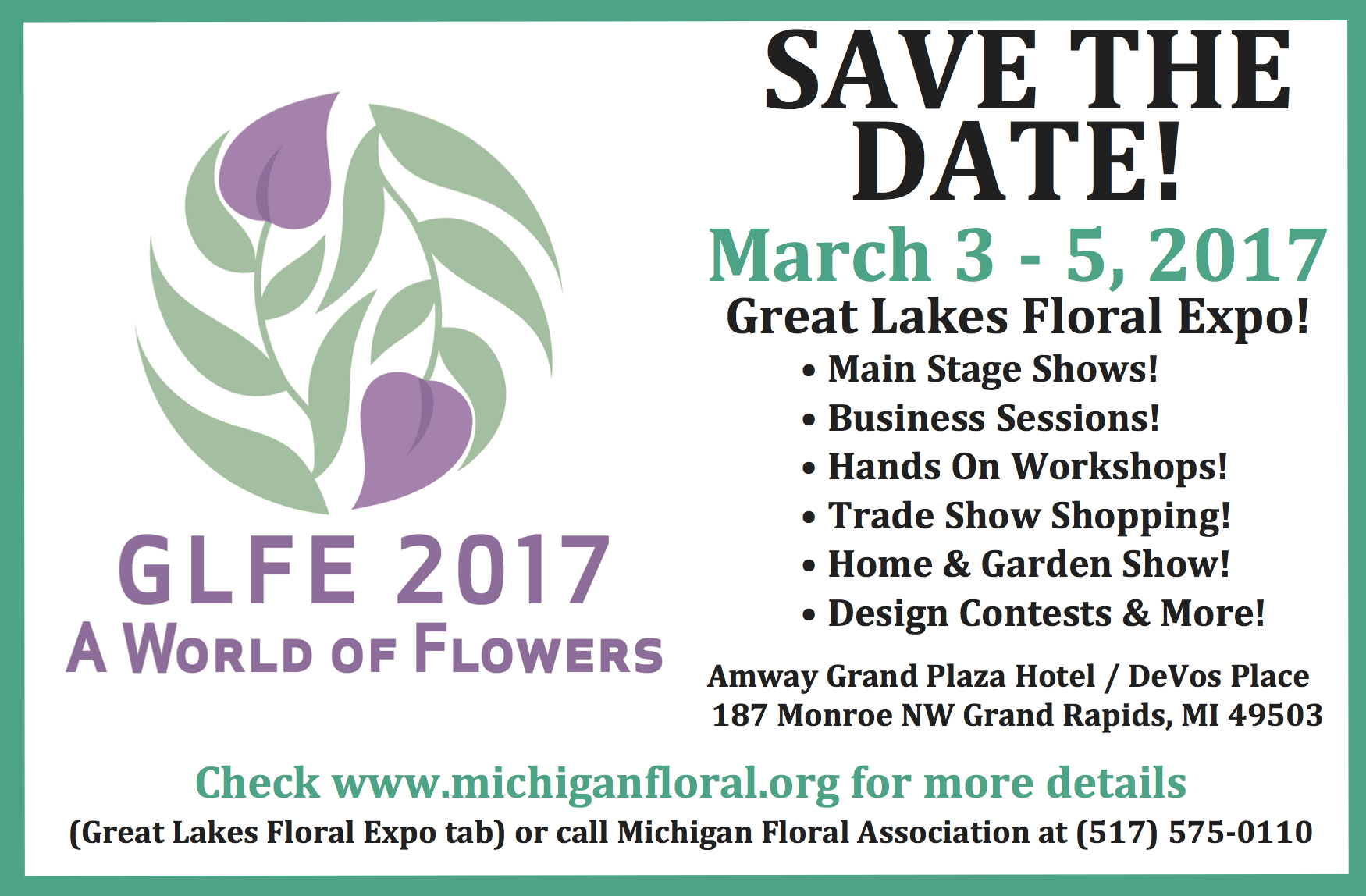 The 2016 Great Lakes Floral Expo